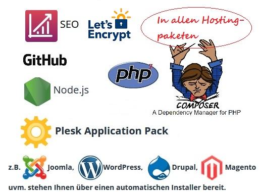 Diese Produkte in allen Webhostingpaketen